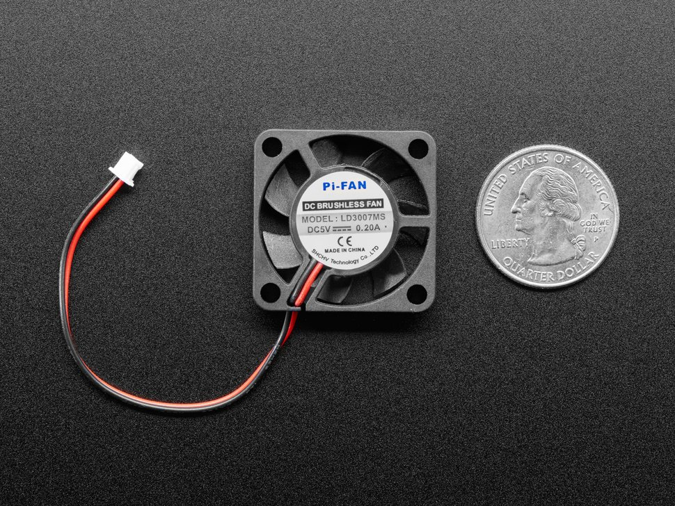 Miniature 5V Cooling Fan with Molex PicoBlade Connector
