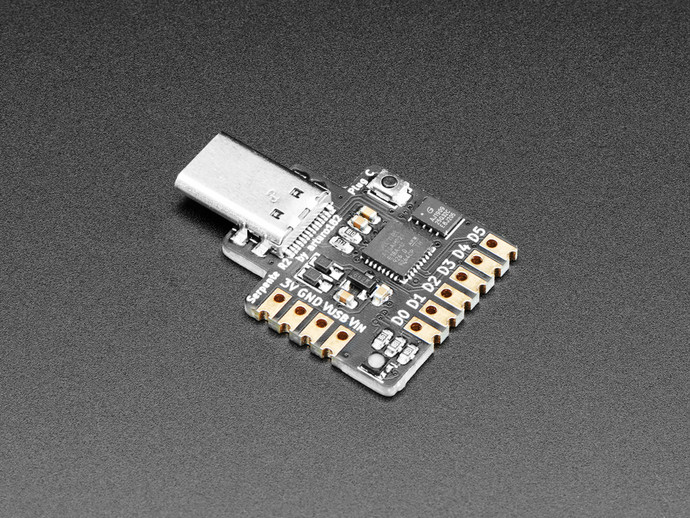 Serpente - Tiny CircuitPython Prototyping Board - USB C Plug