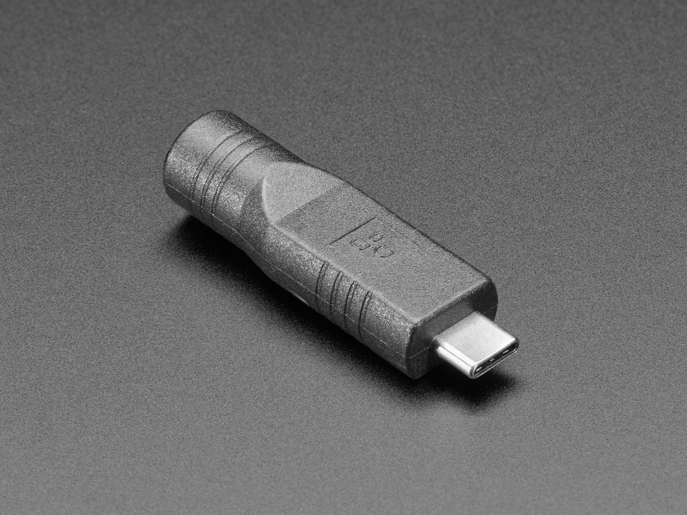 2.1mm 5VDC Barrel Jack to USB C Adapter