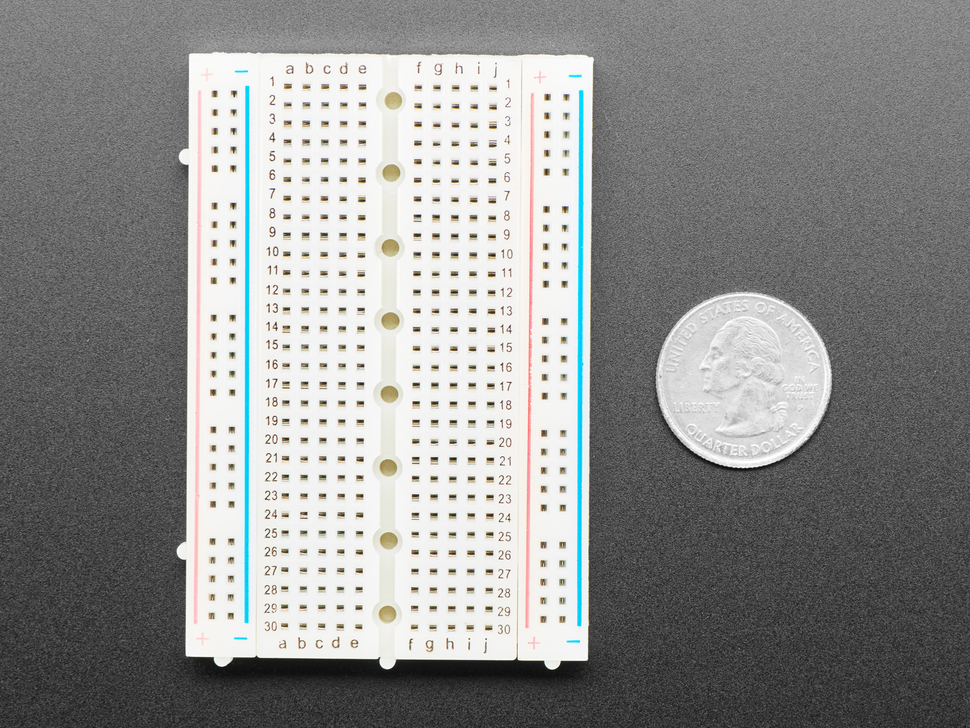 Half-Size Breadboard with Mounting Holes