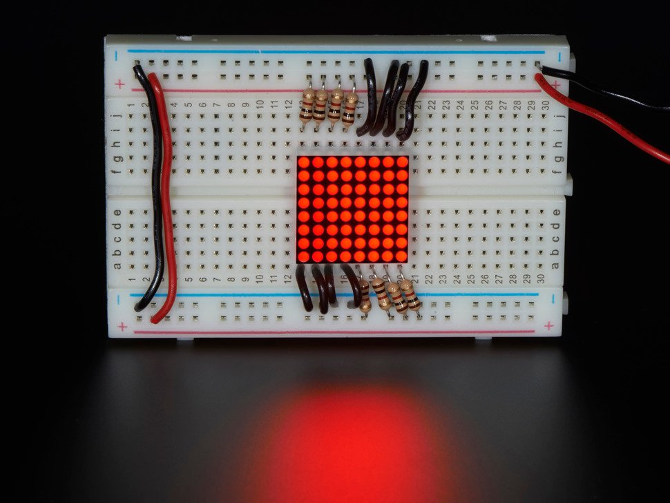 Miniature 8x8 Red LED Matrix