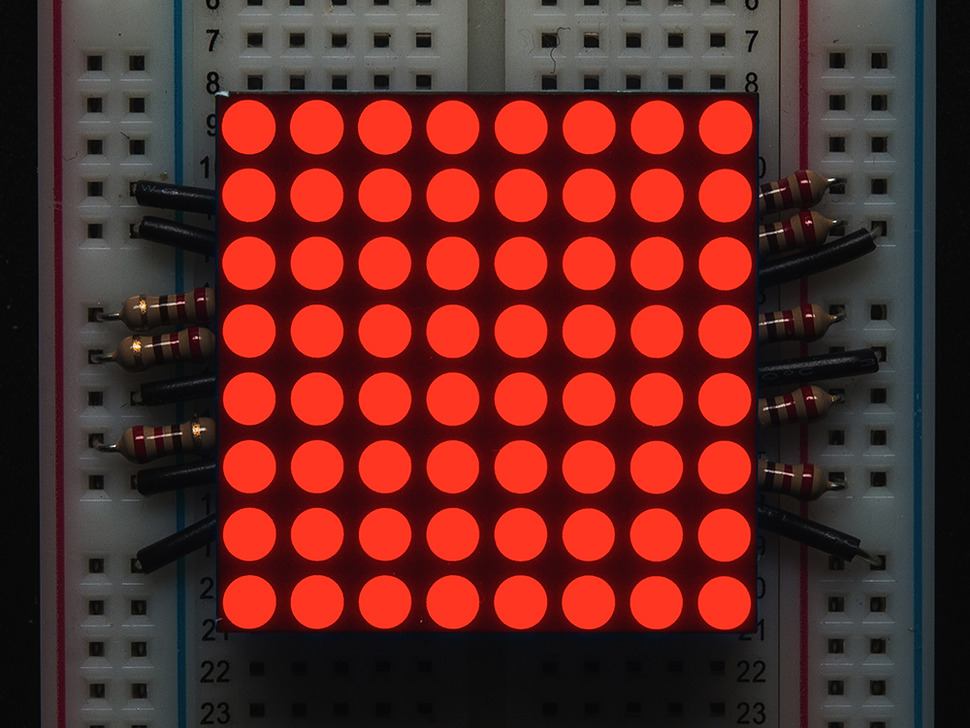 "Small 1.2"" 8x8 Ultra Bright Red LED Matrix - KWM-30881CVB"