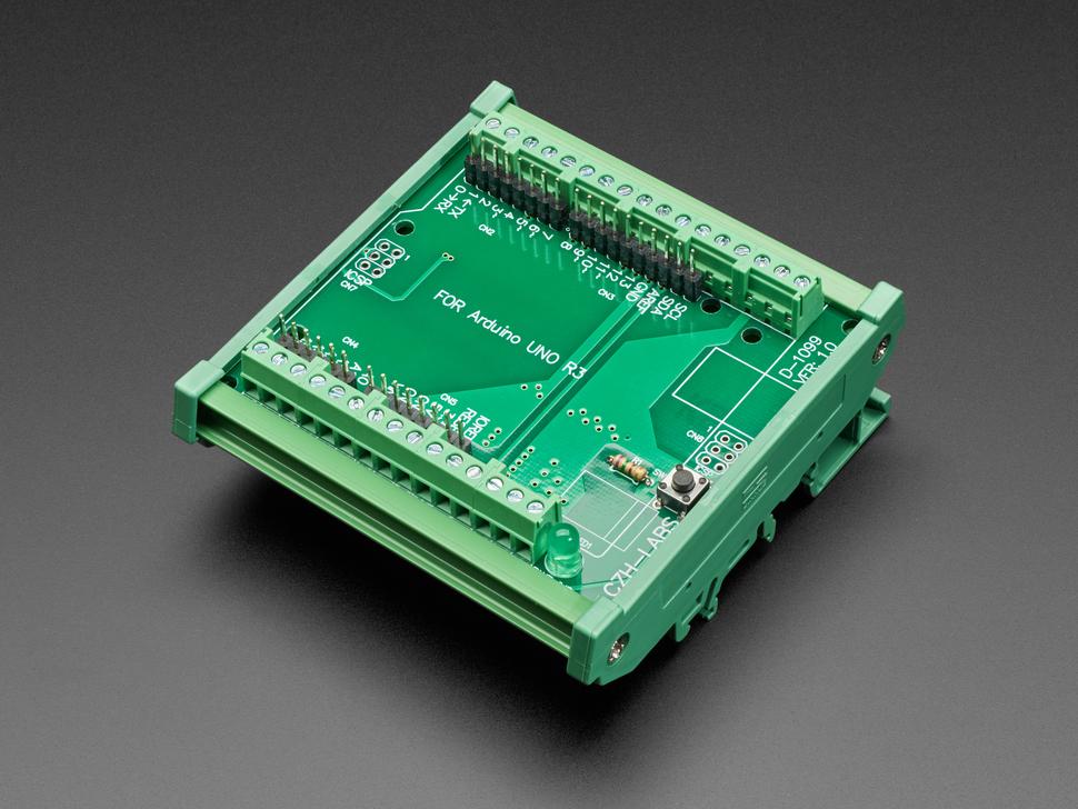 DIN Rail Terminal Block Adapter to Metro or Arduino Uno