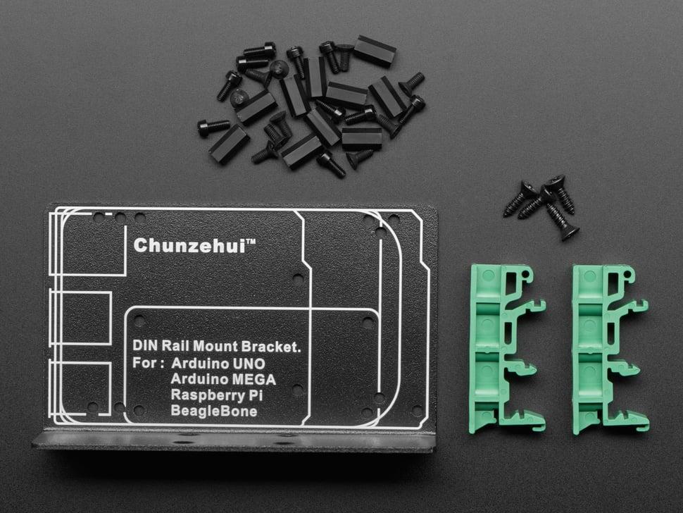 DIN Rail Mount Bracket for Raspberry Pi / BeagleBone / Arduino