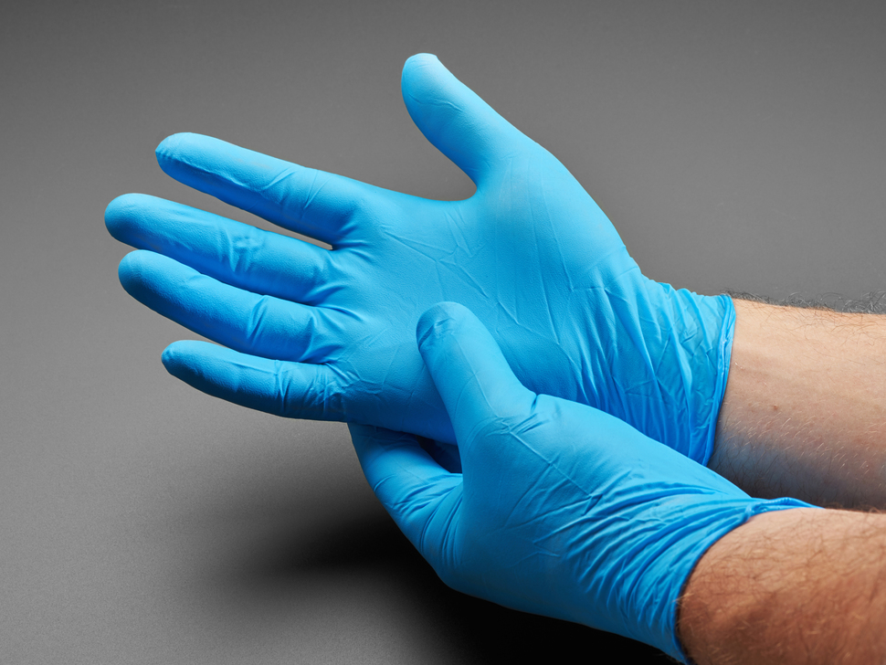 Large Nitrile Disposable Gloves - 100 Piece Glove Box - Blue