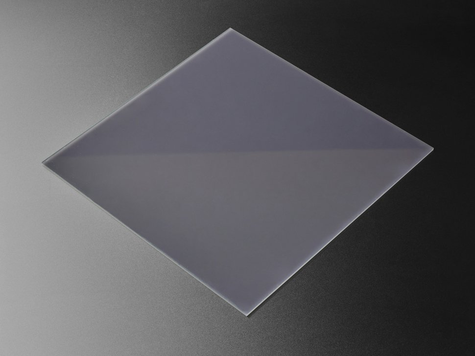 "Black LED Diffusion Acrylic Panel 12"" x 12"" - 0.1"" / 2.6mm thick"
