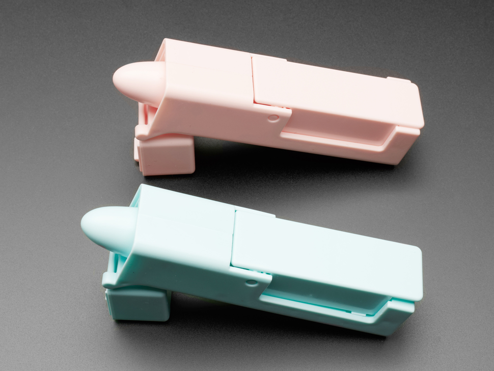 Alternate angle of pink and blue finger pointer
