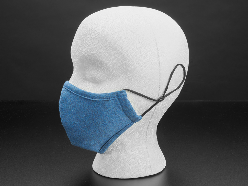 Adjustable Fabric Face Mask in Blue