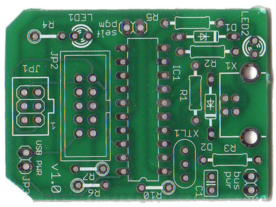 Close up of unsoldered PCB.