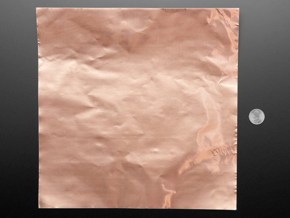 "Copper Foil Sheet with Conductive Adhesive - 12"" x12"" Sheet"