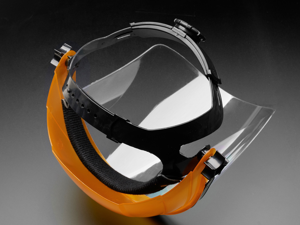 Round Covered Flip-Top Plexiglass Face Shield