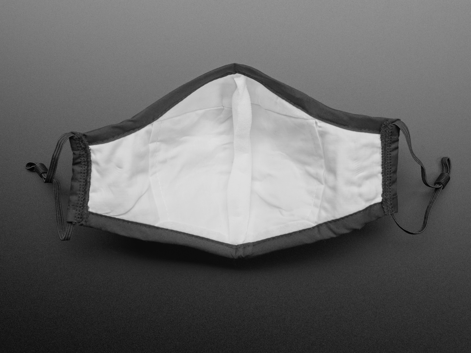 Adult PM2.5 Filtering Face Mask With 4 Filter Inserts - Black