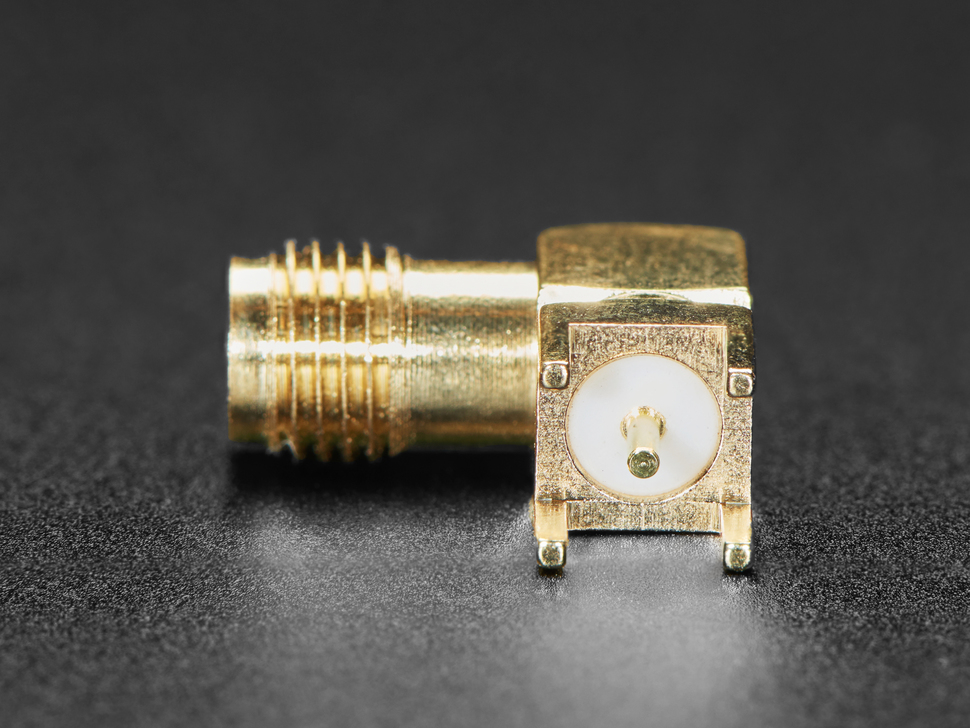 Right Angle SMA Thru Hole RF Connector