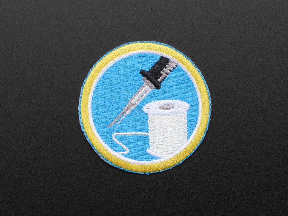 Learn to solder - Skill badge, iron-on patch