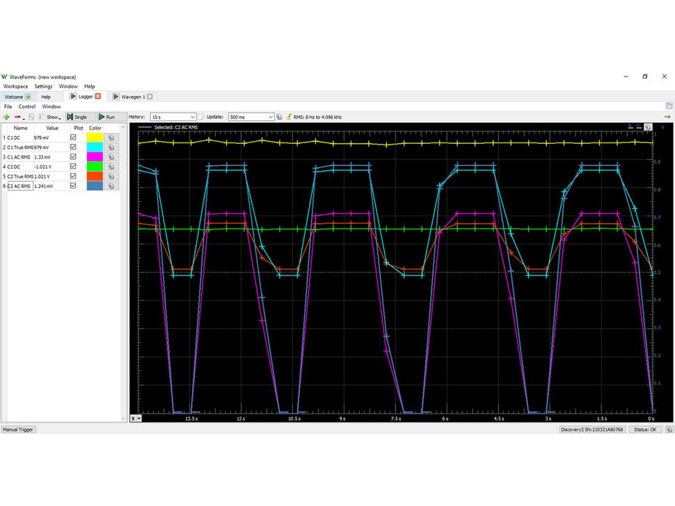 Digilent Analog Discovery 2 USB Oscilloscope and Logic Analyzer