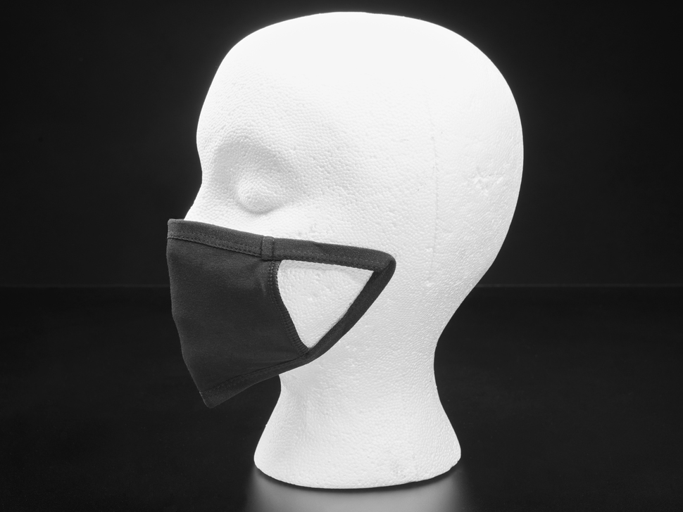 Simple Black 3-Layer Cotton Mask - Child Size