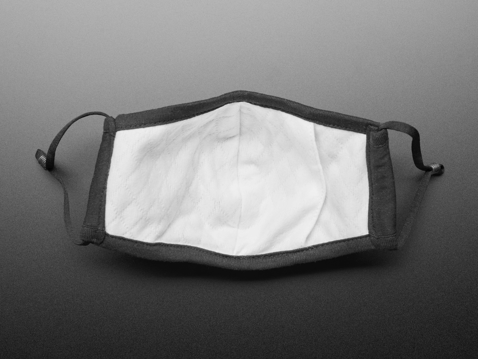 Adult PM2.5 Filtering Face Mask With 2 Filter Inserts - Black