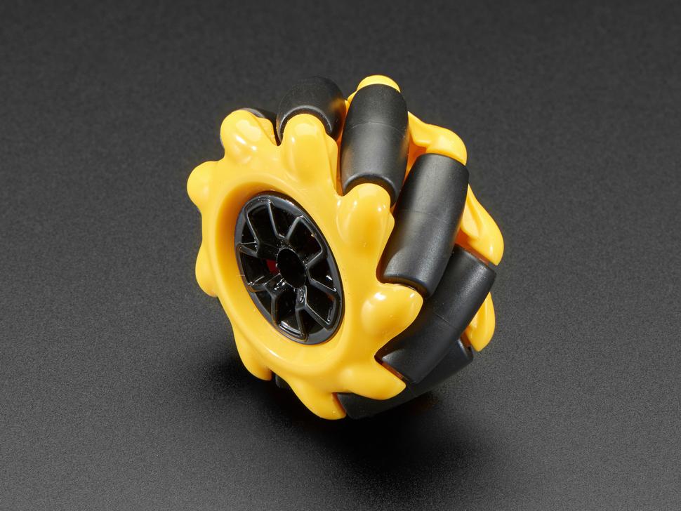 Right Mecanum Wheel for TT Motor or Cross Axles