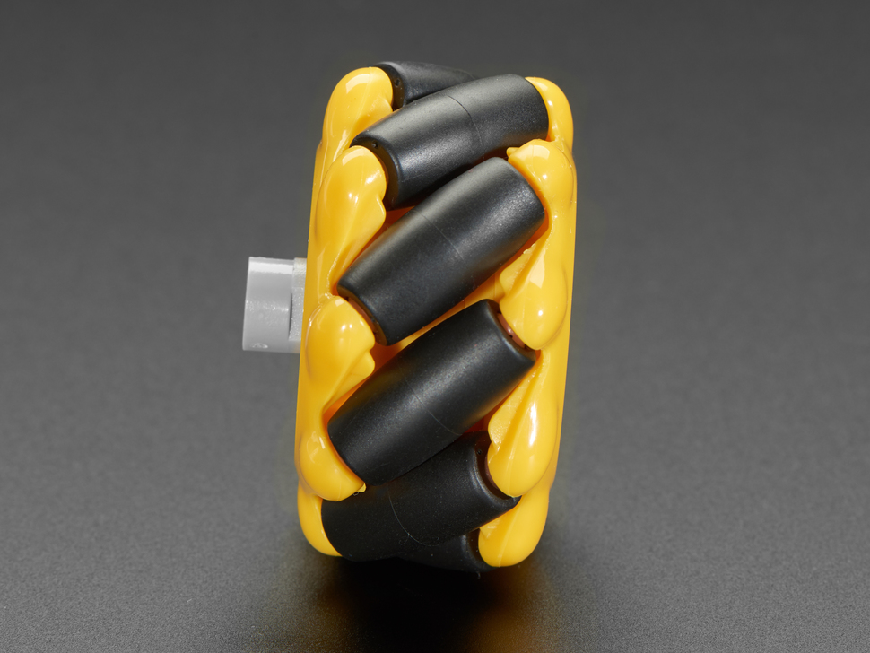 detail of mecanum rollers