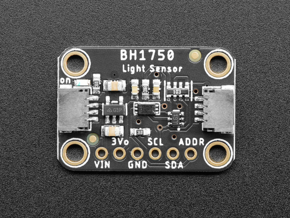 Top of breakout showing components