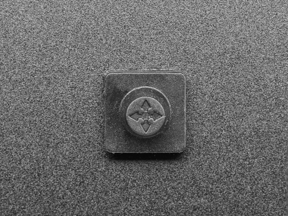 Top detail of rubber cap