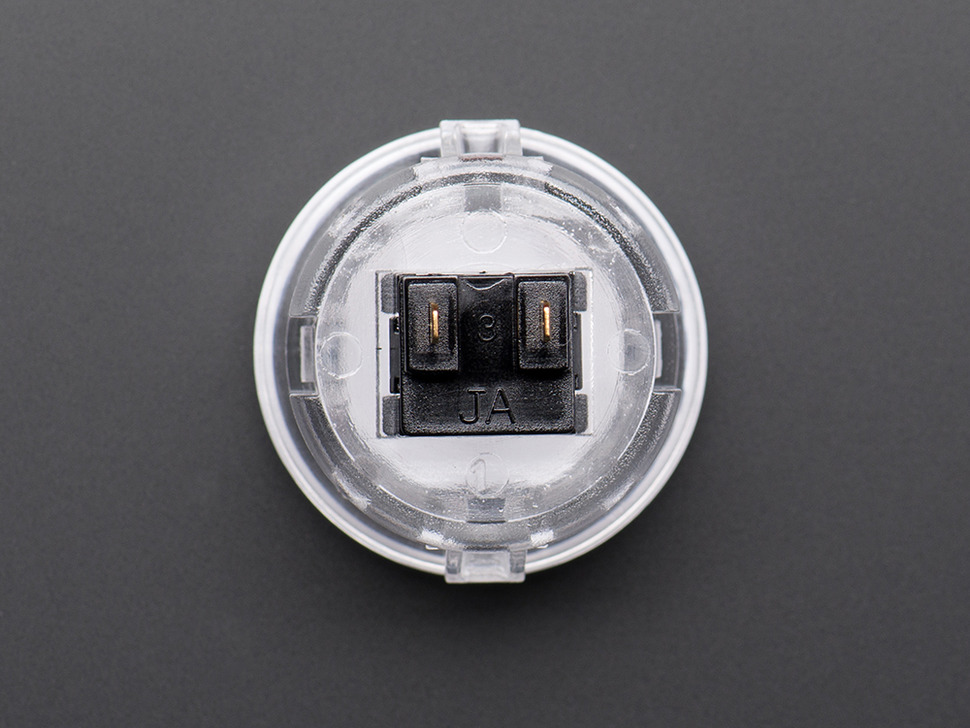 Arcade Button - 30mm Translucent Clear