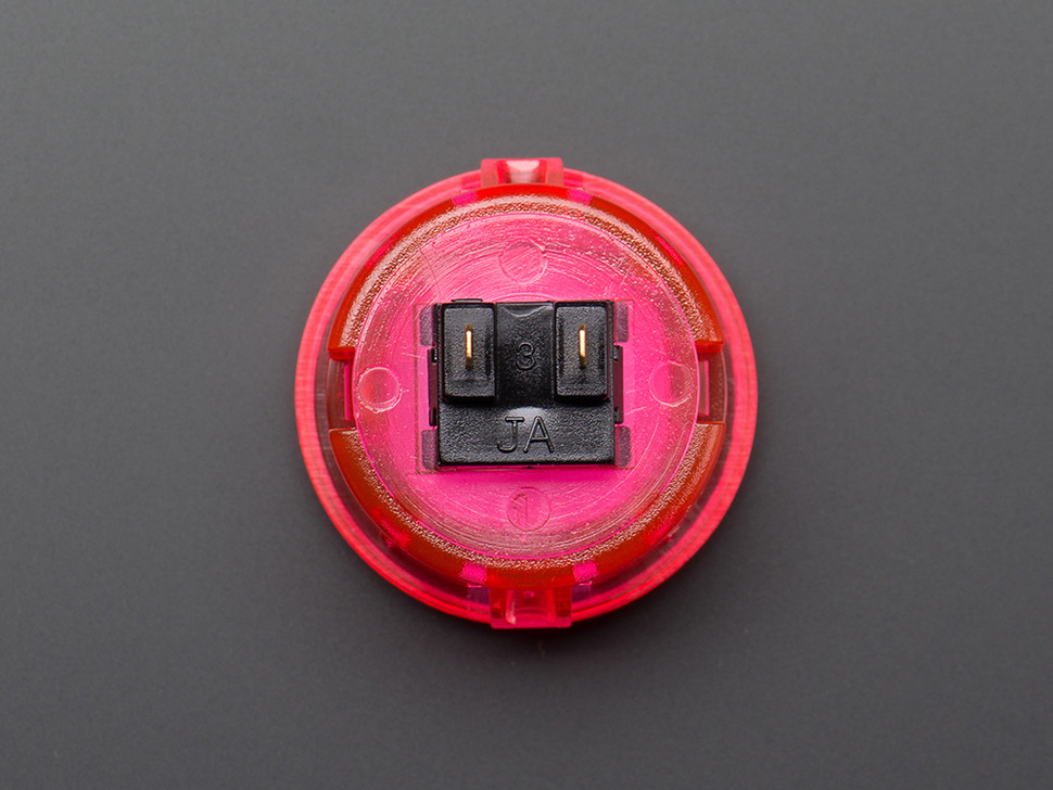Arcade Button - 30mm Translucent Pink