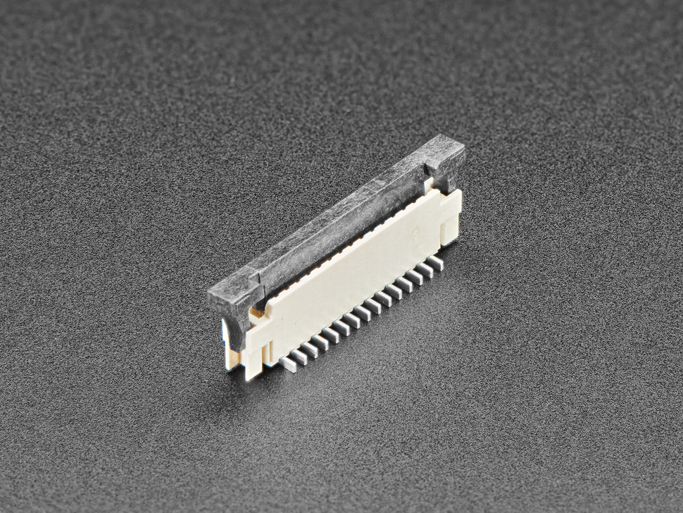 Connector with lip open