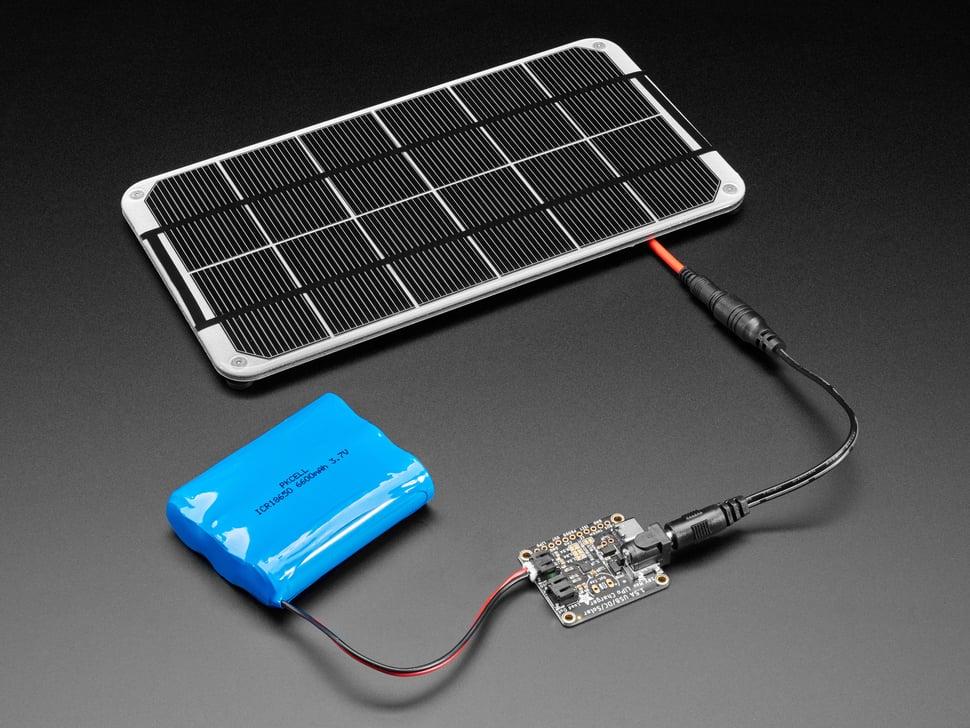 Adafruit Universal USB / DC / Solar Lithium Ion/Polymer charger - bq24074