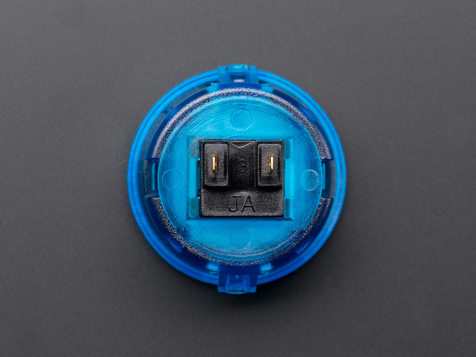 Arcade Button - 30mm Translucent Blue