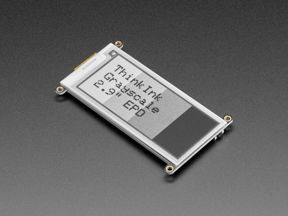 "Adafruit 2.9"" grayscale eInk / ePaper Display FeatherWing"