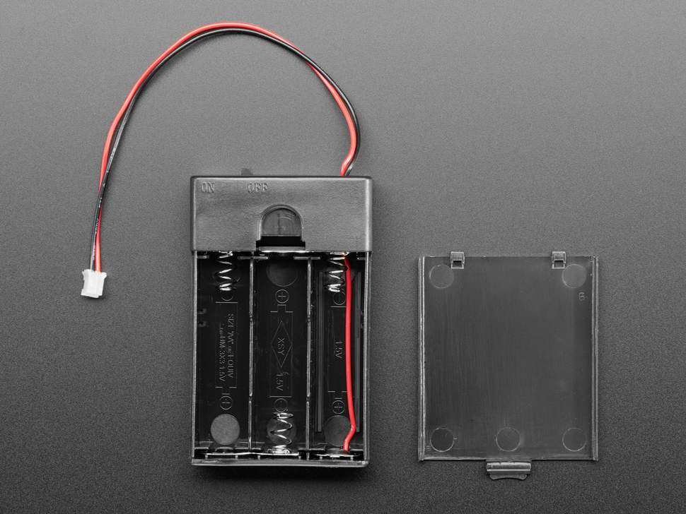 3x AA Battery Holder with On/Off Switch and 2-Pin JST