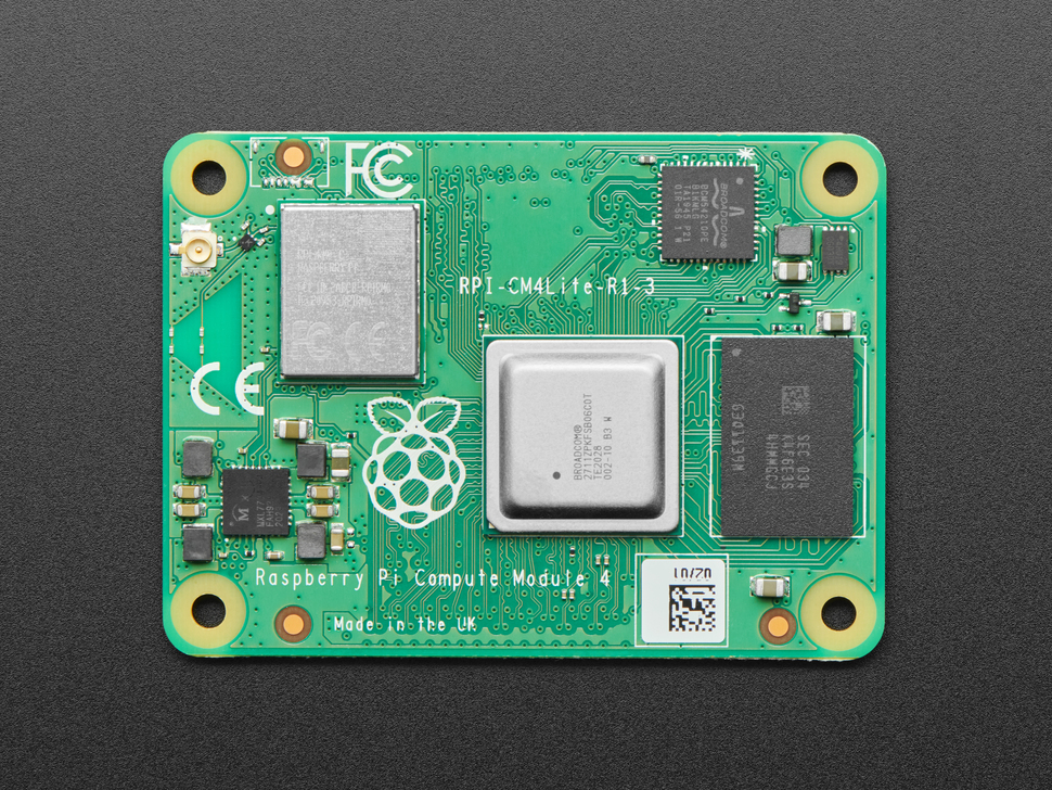 Closer view of the Raspberry Pi Compute Module 4 with WiFi - 2GB / No MMC