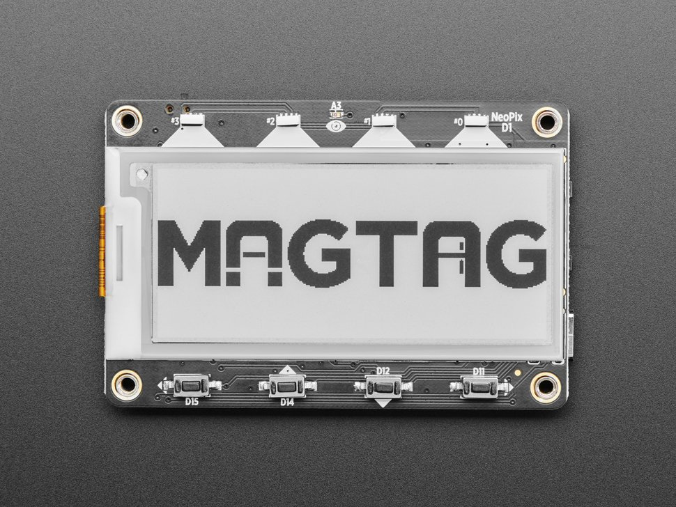 "Adafruit MagTag - 2.9"" Grayscale E-Ink WiFi Display"