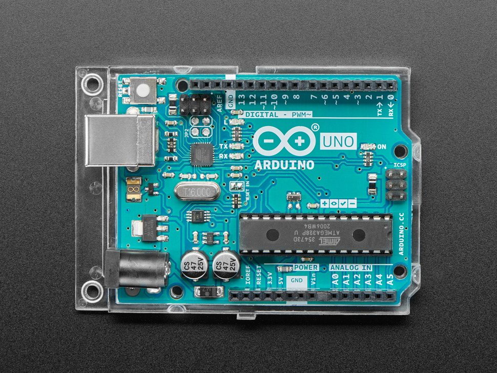 Top down detail of Arduino