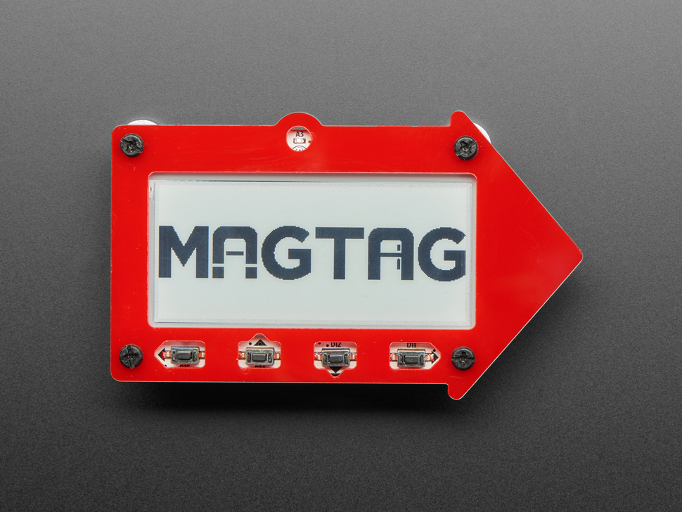 Red Arrow cover installed on magtag