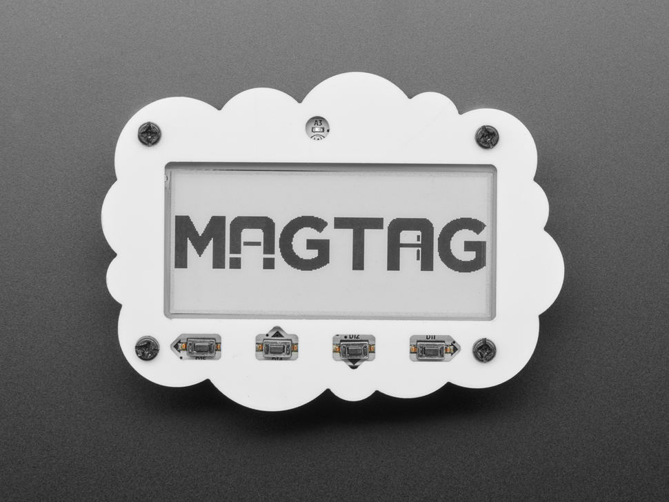 Cloud cover installed on MagTag