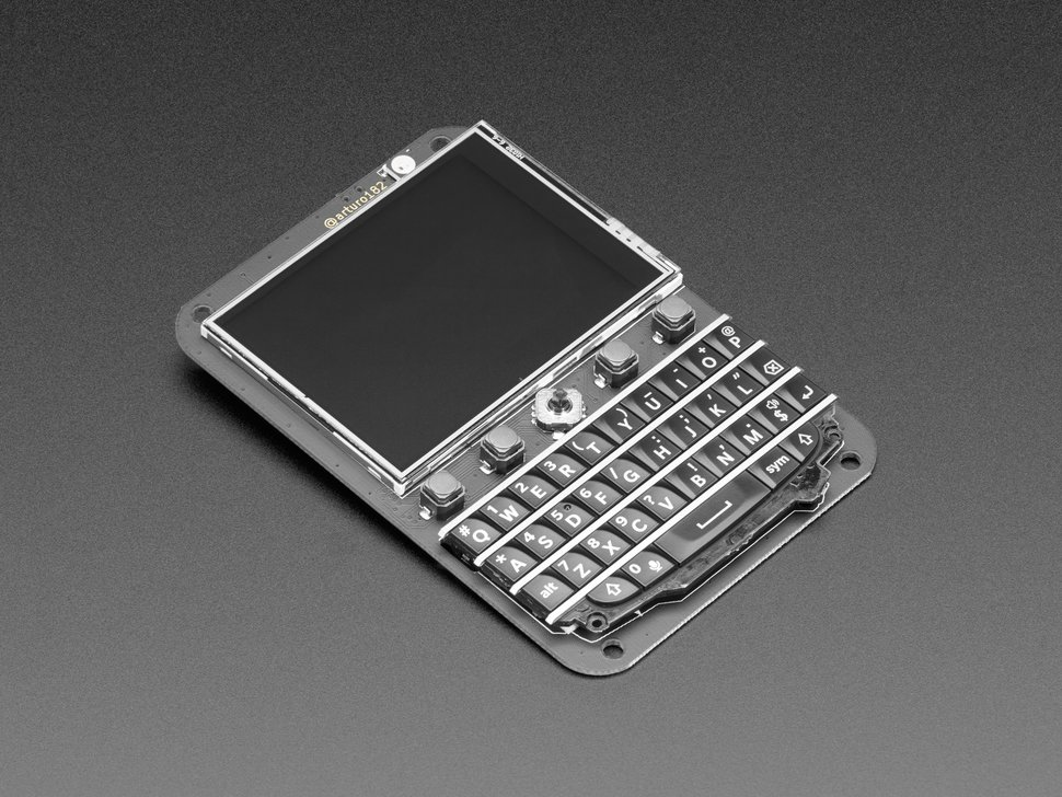 "Keyboard FeatherWing - QWERTY Keyboard + 2.6"" LCD"