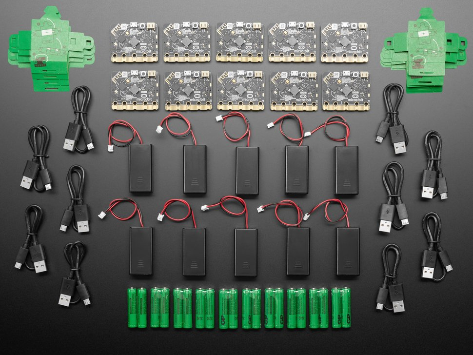 micro:bit v2 Go Club 10-Pack - Batteries and USB Cables Included