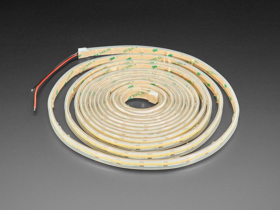 Ultra Flexible White LED Strip - 480 LEDs per meter - 5m long - Cool White ~6500K