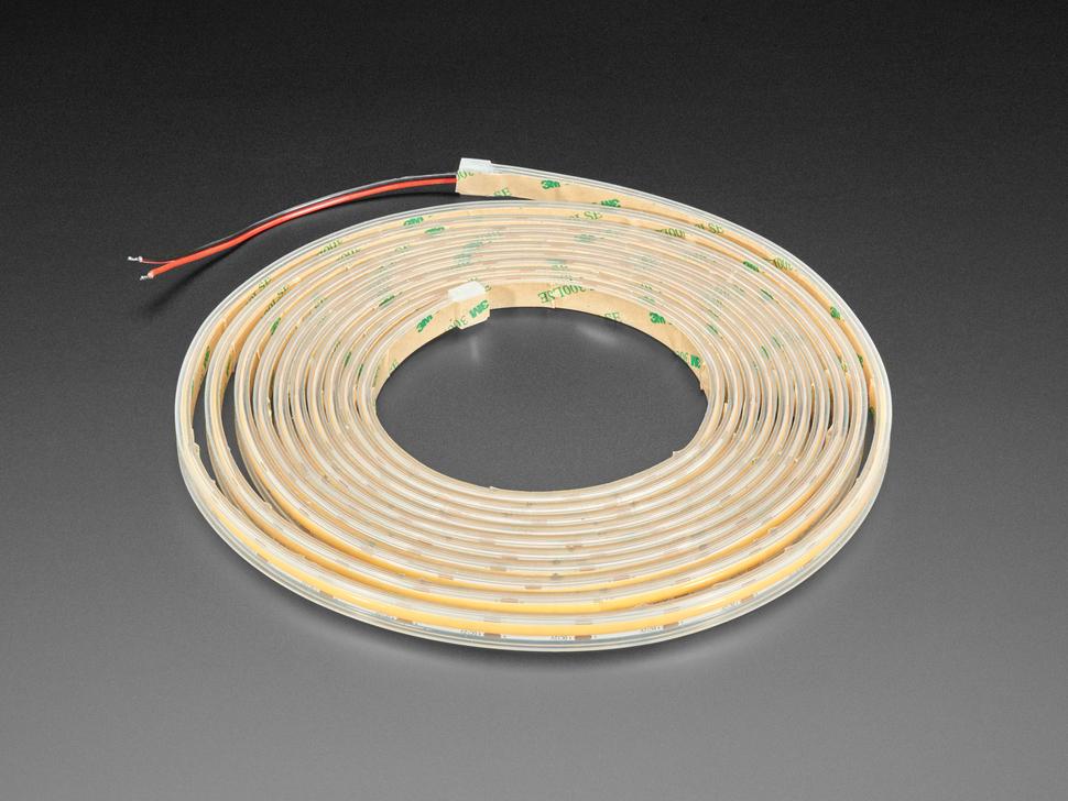 Long Coiled LED strip unlit.