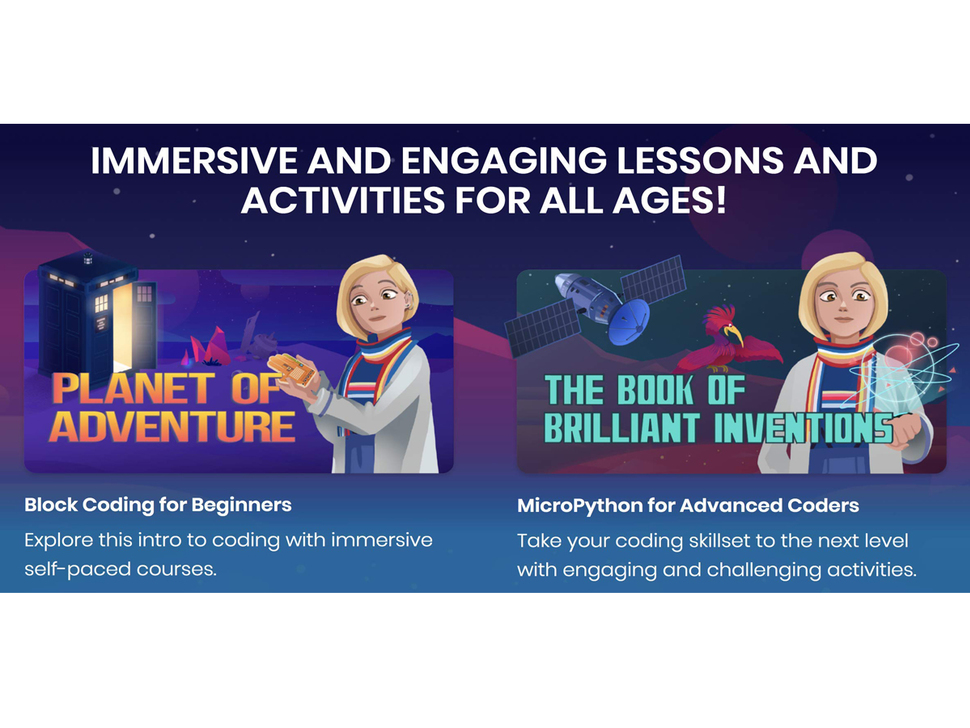 """Advertisement saying """"IMMERSIVE AND ENGAGING LESSONS AND ACTIVITIES FOR ALL AGES"""""""