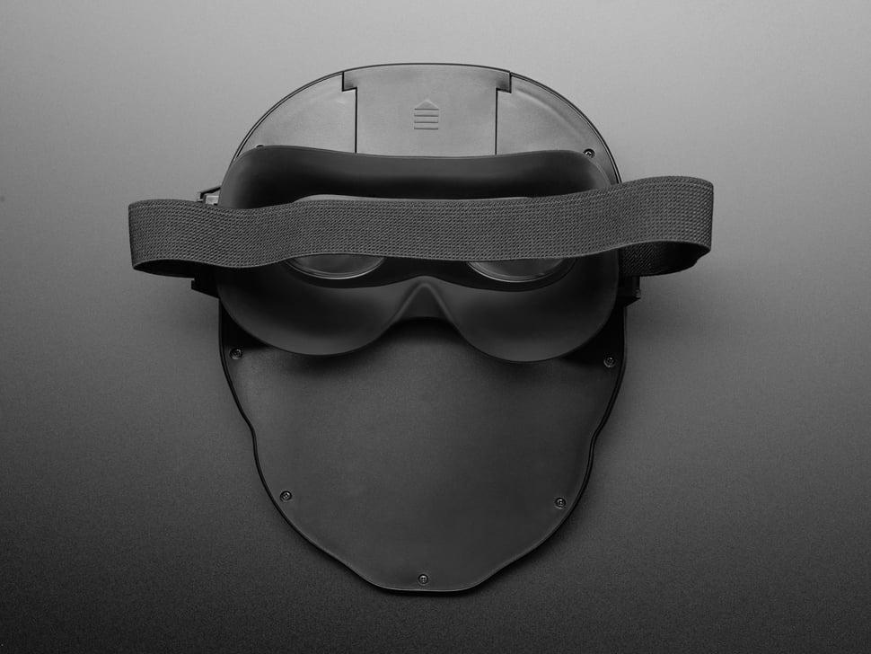 Back of LED Matrix Mask.