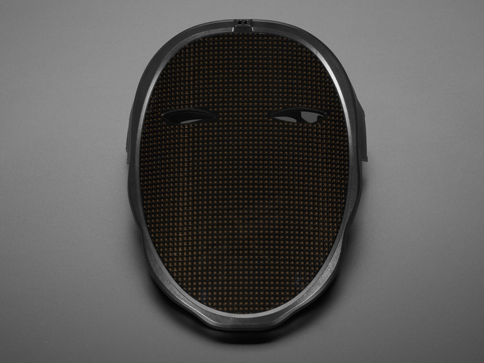Top view of LED Matrix Mask.