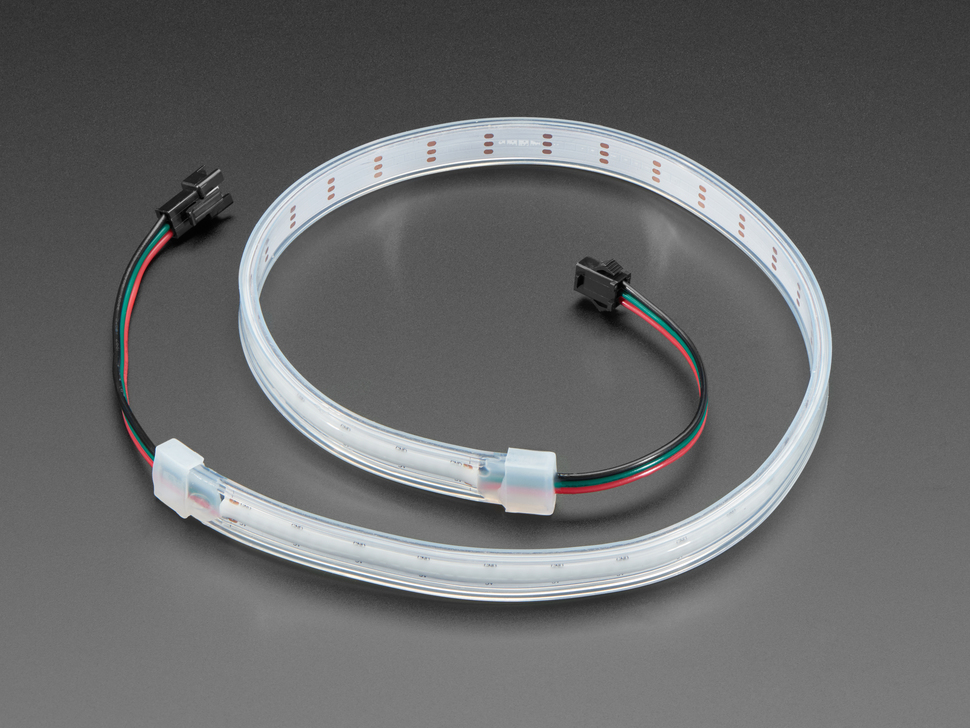 Coiled LED strip