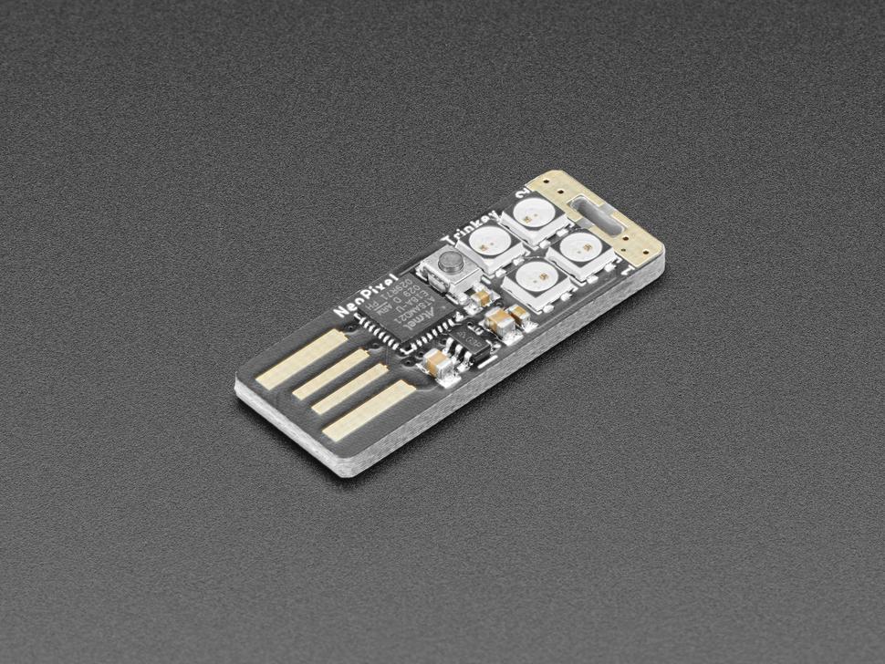 Angled shot of NeoTrinkey PCB.