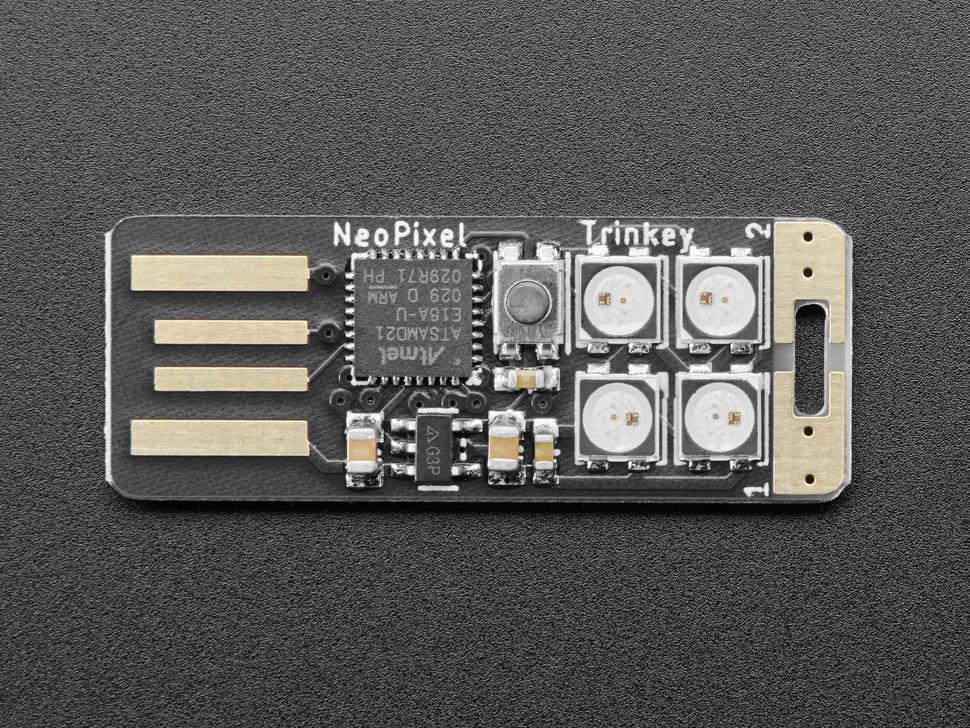 Topdown shot of NeoTrinkey PCB.