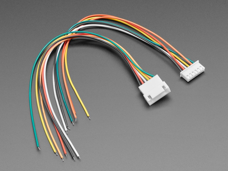 2.5mm Pitch 6-pin Cable Matching Pair - JST XH compatible
