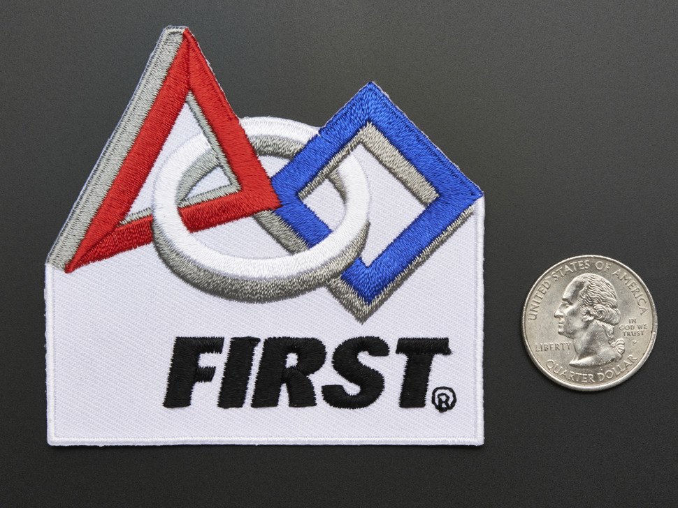 FIRST® Robotics - Skill badge, iron-on patch