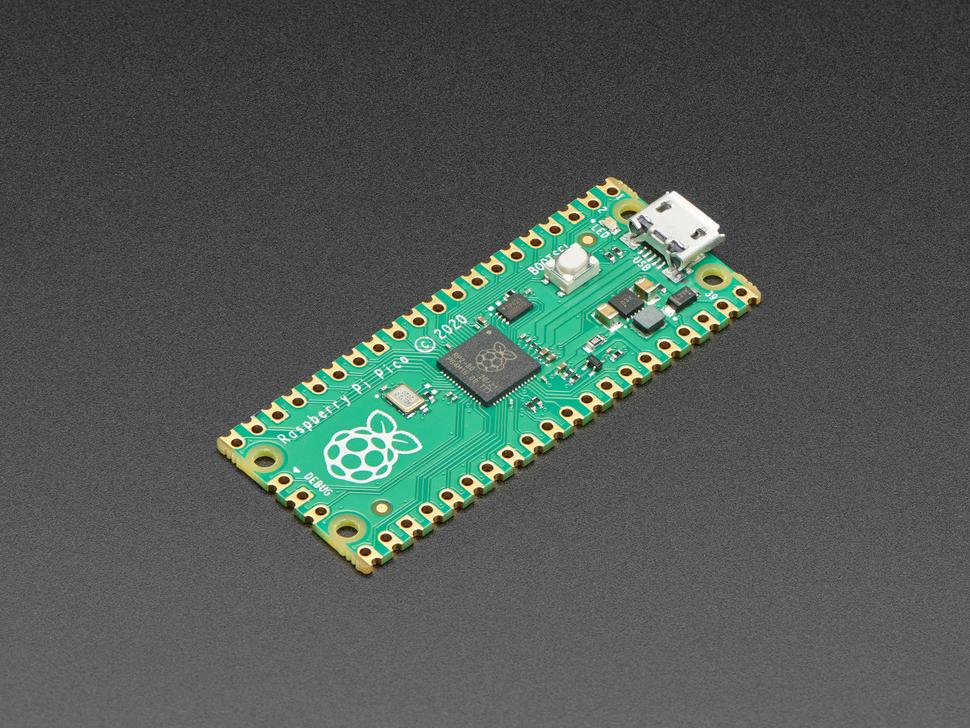 Angled shot of Raspberry Pi Pico RP2040